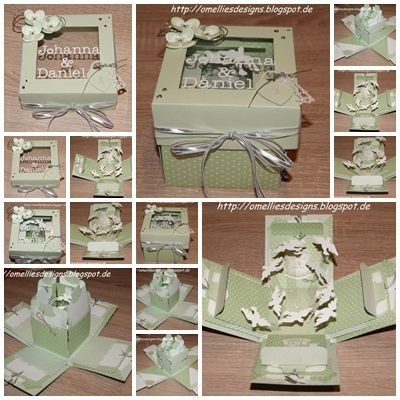 Stampin Up Wedding Card Explosion Box Zur Hochzeit Box Boxes Dove P Stampin Up Wedding In 2020 Exploding Box Card Pop Up Box Cards Exploding Gift Box