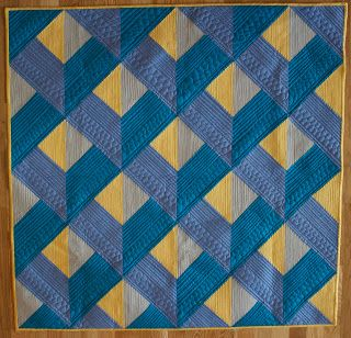 """~free pattern ~  """"Dimensions"""" by Angela Walters at Quilting Is My Therapy.  The attic windows are set on point."""
