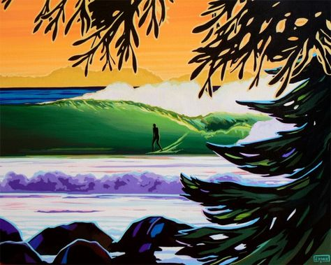 Christie Shinn surf art