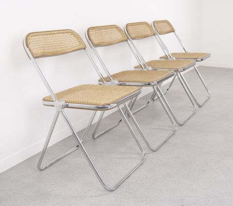 Set Of 4 Plia Dinner Chairs By Giancarlo Piretti For Castelli