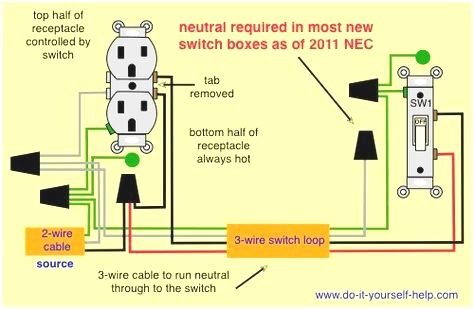 Wiring A Split Outlet To A Switch Outlet Wiring Light Switch Wiring Wire Switch