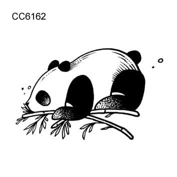 Rocooart 6x6cm Little Vintage Simple Style Cute Black White Panda Tattoo Your Friends Will Think You Too Black And White Stickers Panda Tattoo Tattoo Stickers