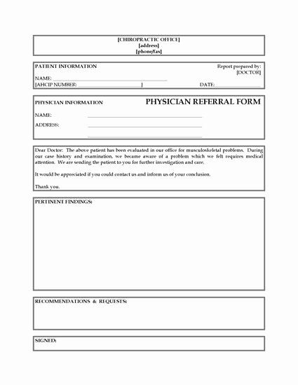 25 Medical Referral Form Templates In 2020 Questionnaire