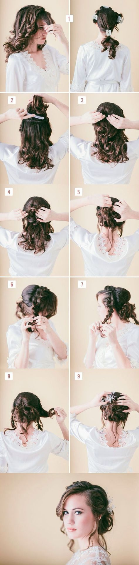 20 Easy Updo Hairstyles for Medium Hair | Updos, Curly and Romantic