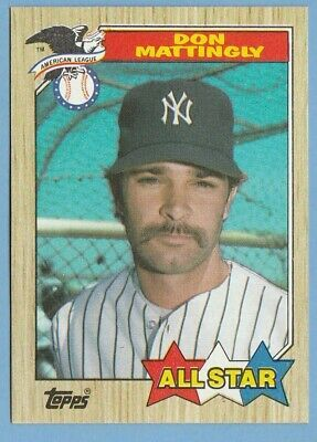 1987 Topps 606 Don Mattingly New York Yankees Pack Fresh In 2020 Don Mattingly New York Yankees New York Yankees Baseball