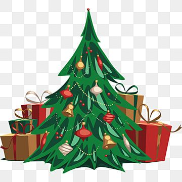 Hand Drawn Christmas Tree And Gift Illustration Christmas Tree Plant Gift Box Png And Vector With Transparent Background For Free Download Christmas Tree With Gifts Christmas Image Download Christmas Images
