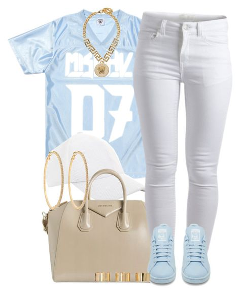 """""""Pastels."""" by livelifefreelyy ❤ liked on Polyvore featuring BCBGeneration, Givenchy, Pieces, adidas, Versace, Roberta Chiarella and ASOS"""