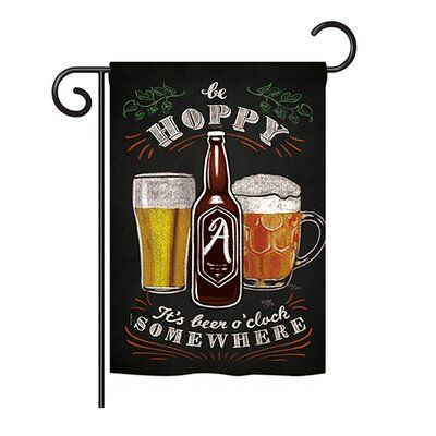 Breeze Decor Hoppy Beer O Clock Happy Hour And Drink 2 Sided Polyester 1 1 X 1 6 5 Ft Garden Flag Breeze Decor Hoppy Beer Happy Hour Drinks