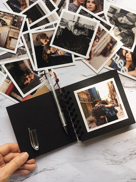 Excited to share this item from my #etsy shop: Album DIY 12x12 - #scrapbook, #birthday, #friends, girl, #graduation, love photo album, #polaroid, black album #birthdayalbum #12x12photoalbum #scrapbooking #cardboardphotoalbum