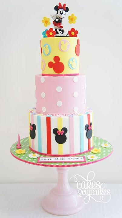 Colorful Minnie Mouse Birthday Cake
