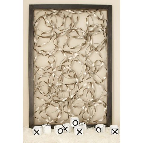79d8b4afe3 Contemporary Silver Twisted Nickel and Curls Wall Decor, Metallics