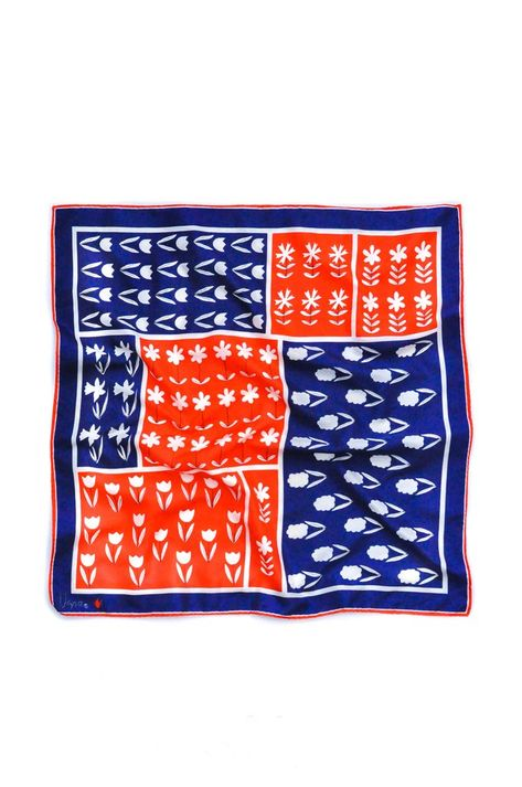 Vintage Red, White & Blue Square Scarf from Sweet & Spark