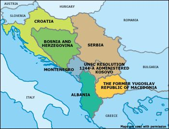 Map Of Former Albania Map Of Kosovo Map Of Europe Map Of Turkey - Montenegro maps with countries