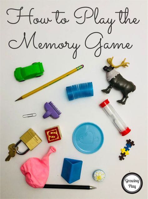 How to Play the Memory Game - encourage visual spatial working memory skills with this easy to set up game. Perfect when waiting or for a quick brain game. Games For Kids Classroom, Kindergarten Games, Memory Games For Kids, Preschool Activities, Elderly Activities, Dementia Activities, Kids Brain Games, Visual Perceptual Activities, Auditory Processing Activities
