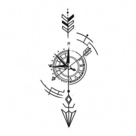 Kompass Tattoo Bedeutung Der Windrose Motive
