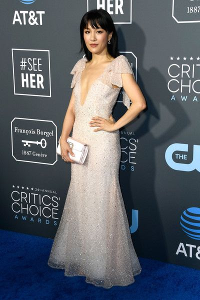 Constance Wu  attends the 24th annual Critics' Choice Awards at Barker Hangar.