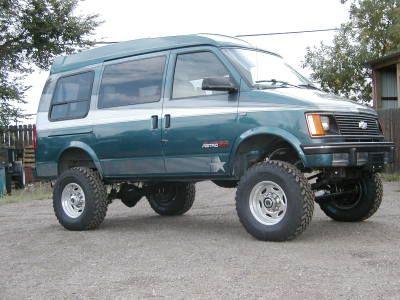 4x4 Lifted Chevy Astro Van