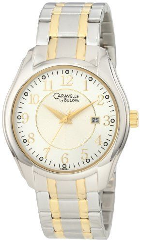 Caravelle by Bulova Men's 45B114 Classic two tone Watch Caravelle by Bulova. $82.49. Flat mineral crystal. Silver dial. Quartz movement. Stainless steel bracelet. Water resistant to 30 meters. Save 25%!