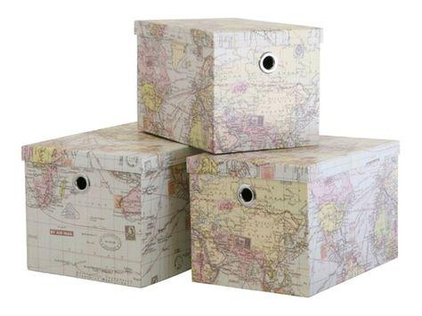 Map Storage Boxes Pretty Storage Boxes Map Storage Storage Boxes