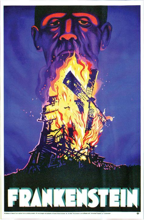 Frankenstein Poster Cling Horror Decoration