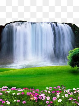 2017 Waterfall Landscape Material Waterfall Beautiful Scenery Background Material Png Transparent Clipart Image And Psd File For Free Download Waterfall Landscape Waterfall Background Waterfall Photo