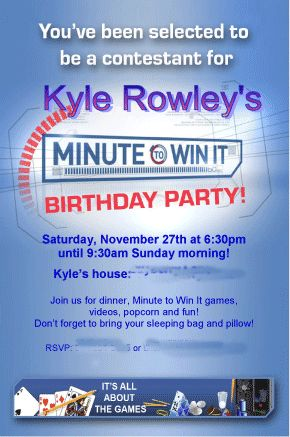 How To Throw Your Own Minute Win It Birthday Party
