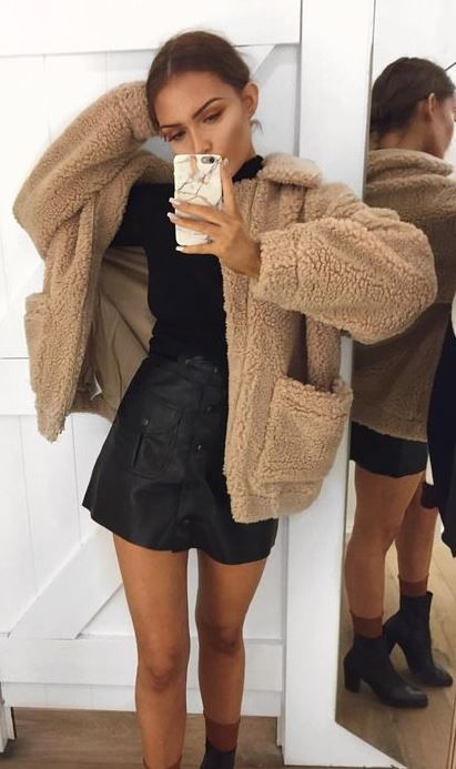 16 Teddy Coat Outfit Ideas That Are Super Cozy   Fashion
