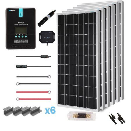 Renogy 600 Watt 24 Volt Solar Premium Kit With Monocrystalline Solar Panel And 40a Mppt Rover Controller Walmart Com In 2020 Monocrystalline Solar Panels Off Grid Solar Solar Panel Installation