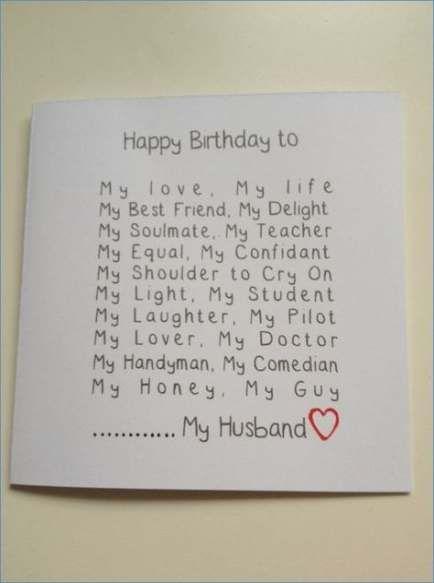 New Birthday Card Diy Husband Valentine Gifts 50 Ideas Husband Birthday Card Birthday Cards For Boyfriend 30th Birthday Cards