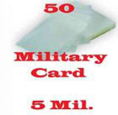 5 Mil Military Card 50 Pk Laminating Laminator Pouch Sheet 2 5 8 X 3 7 8 Military Cards American Spirit Cigarettes Cards
