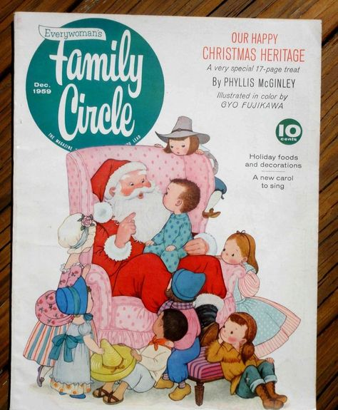 1959 DEC vintage FAMILY CIRCLE MAGAZINE christmas GYO FUJIKAWA McGINLEY STORY