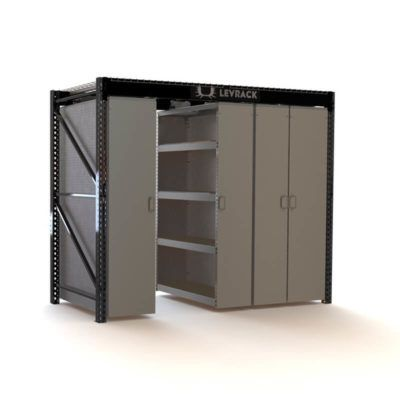 10ft Levrack Levrack Mobile Shelving Locker Storage Steel Shelf