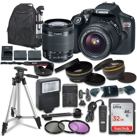 Canon EOS Rebel Digital SLR Camera with Canon EF-S Image Stabilization II Lens, Sandisk SDHC Memory Cards, Accessory Bundle * To view further for this item, visit the image link. (This is an affiliate link) Canon Digital, Digital Camera, Cameras Nikon, Camera Lens, Leica Camera, Nikon Dslr, Film Camera, Canon Eos Rebel T6i, Dslr Photography Tips