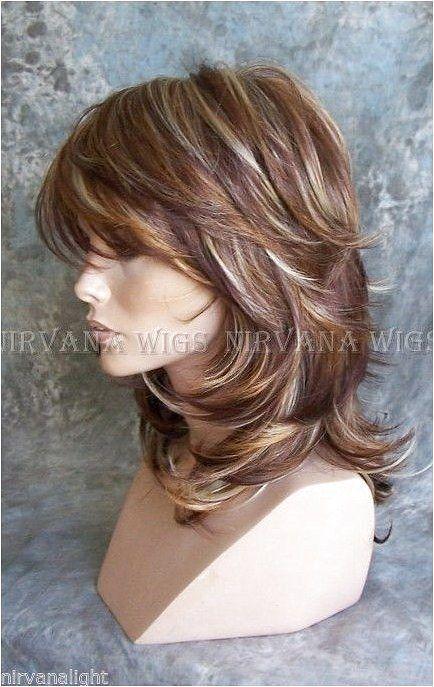 3 Tonos Profundos Auburn Cobre Rubia Multi Capas Med Larga Nirvana Sarah Peluca Click On The Image Or Medium Hair Styles Curls For Long Hair Long Hair Styles