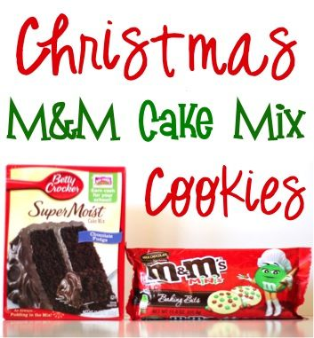 Christmas M&M Cake Mix Cookies Recipe! {the perfect treat for your Christmas parties and holiday cookie exchanges!} #thefrugalgirls #recipes | TheFrugalGirls.com
