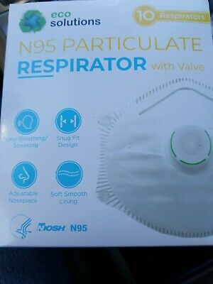 Ad Ebay One 1 10 Pack New Eco Solution N95 Respirator Valve