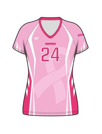 Sublimated Dig Pink Cap Sleeve Volleyball Jersey V1 Uniformes Uniforme