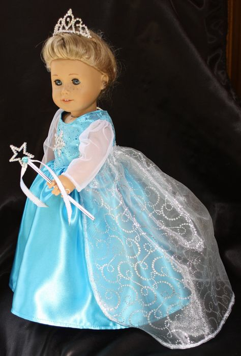 Ready to ship today 18 in. Elsa Doll Dress von DollBabyDesigns1