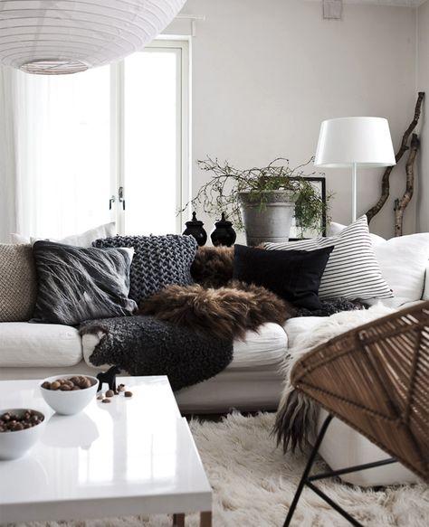 Cocooning, cosy, grey