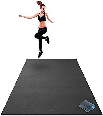 Amazon Com Premium Extra Large Exercise Mat 7 X 5 X 1 4 Ultra Durable Non Slip Workout Mats For Home Large Workout Mat Mat Exercises Home Gym Flooring