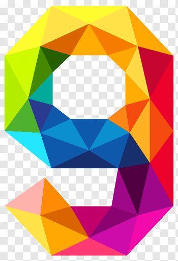 Triangular Number Color Colourful Triangles Number Nine Rainbow 9 Free Png Geometric Artwork Blue Digital Art Geometric Background
