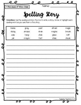 4th Grade Journeys Spelling Writing Activity Lessons 1 30