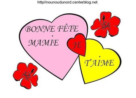Coeur Bonne Fête Mamie Coloriage Et En Couleur Coloriage