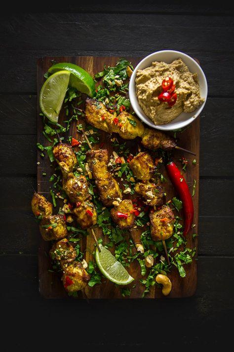Balinese Chicken Satay Skewers with Cashew Sauce-3