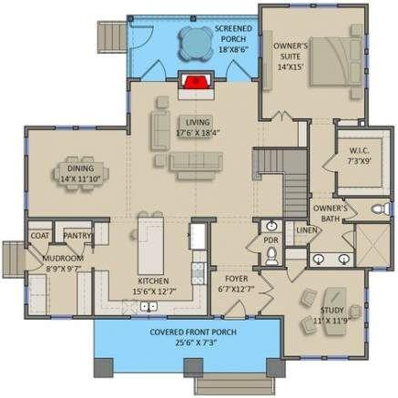 55 Ideas House Plans With Loft Modern House Plan With Loft Craftsman House Plans House Plans