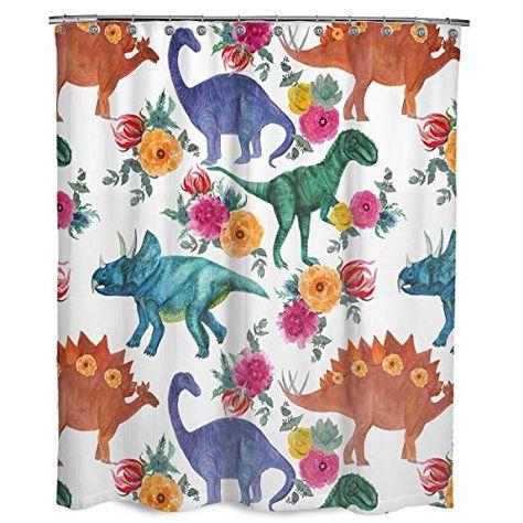 Dimaka Cute Kids Dinosaur Shower Curtain Cute Shower Curtains
