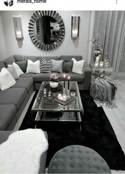 Living Room Grey Cozy White Bedrooms 61 Ideas For 2019 Silver Living Room Living Room Decor Apartment Apartment Living Room