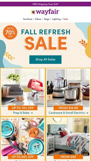 Fall Sale Up To 70 Off Wayfair Email Archive In 2020 Wayfair Bar Stools For Sale Wayfair Furniture