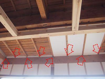 木陰手探りdiy 天井の見て見ぬふりが出来そうなほどの隙間を