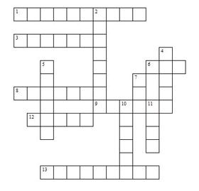 Animals  Crossword Puzzle  Ota Ready    Learning